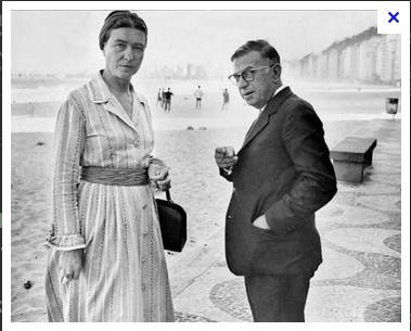 with Simone de Beauvoir