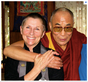 Joan with the Dalai Lama