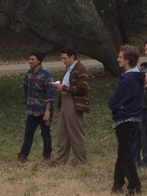 franco on set Jan 22nd 2014