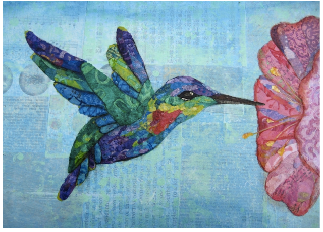 mixed media Hand Crafted Fiery Throated Hummingbird