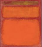 Rothko's Orange on Red
